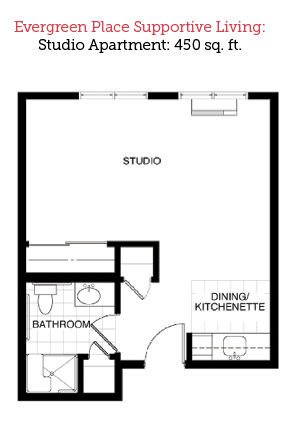 Alton, Illinois | Studio Floor Plan