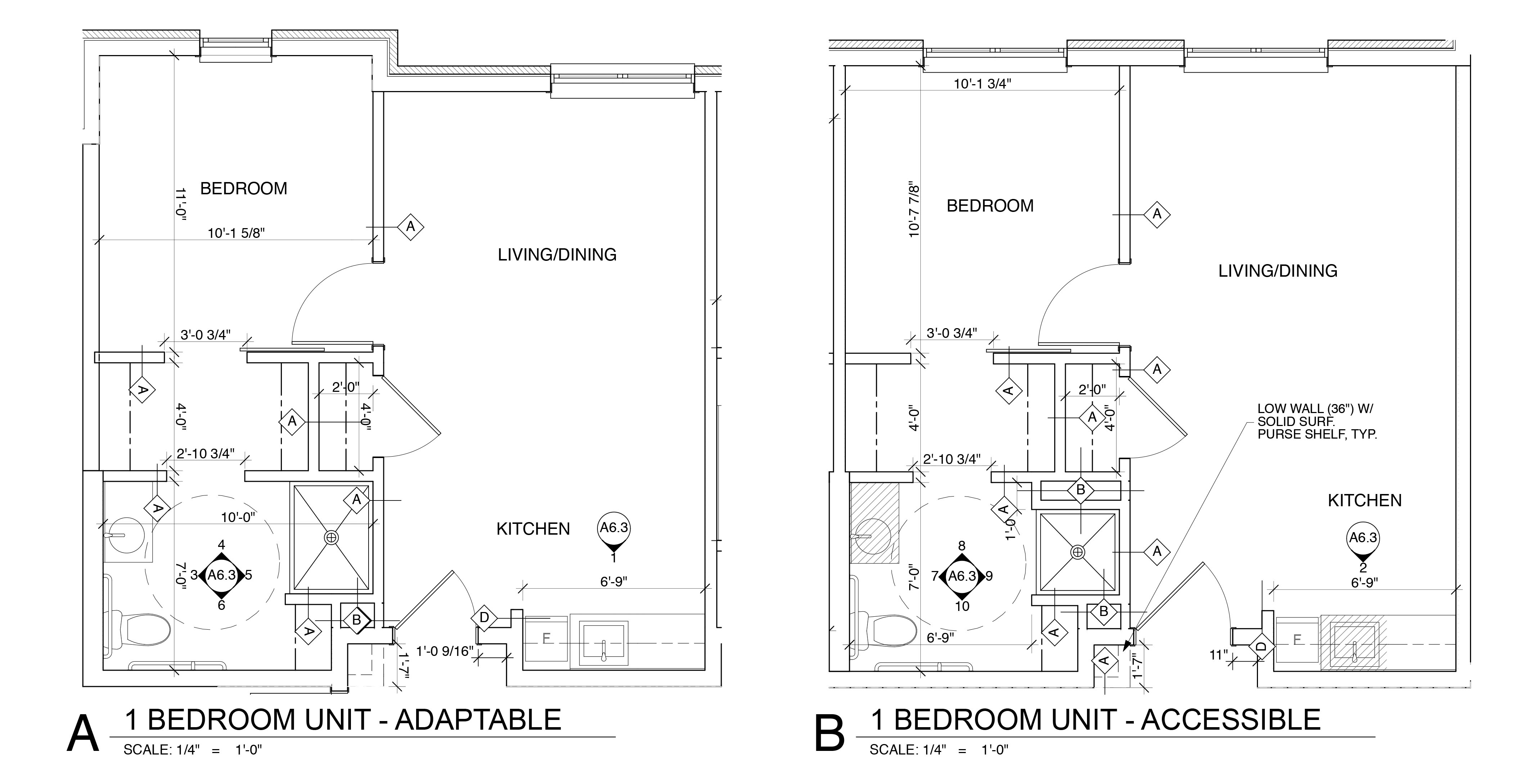 One Bedroom Unit - Adaptable & Accessible