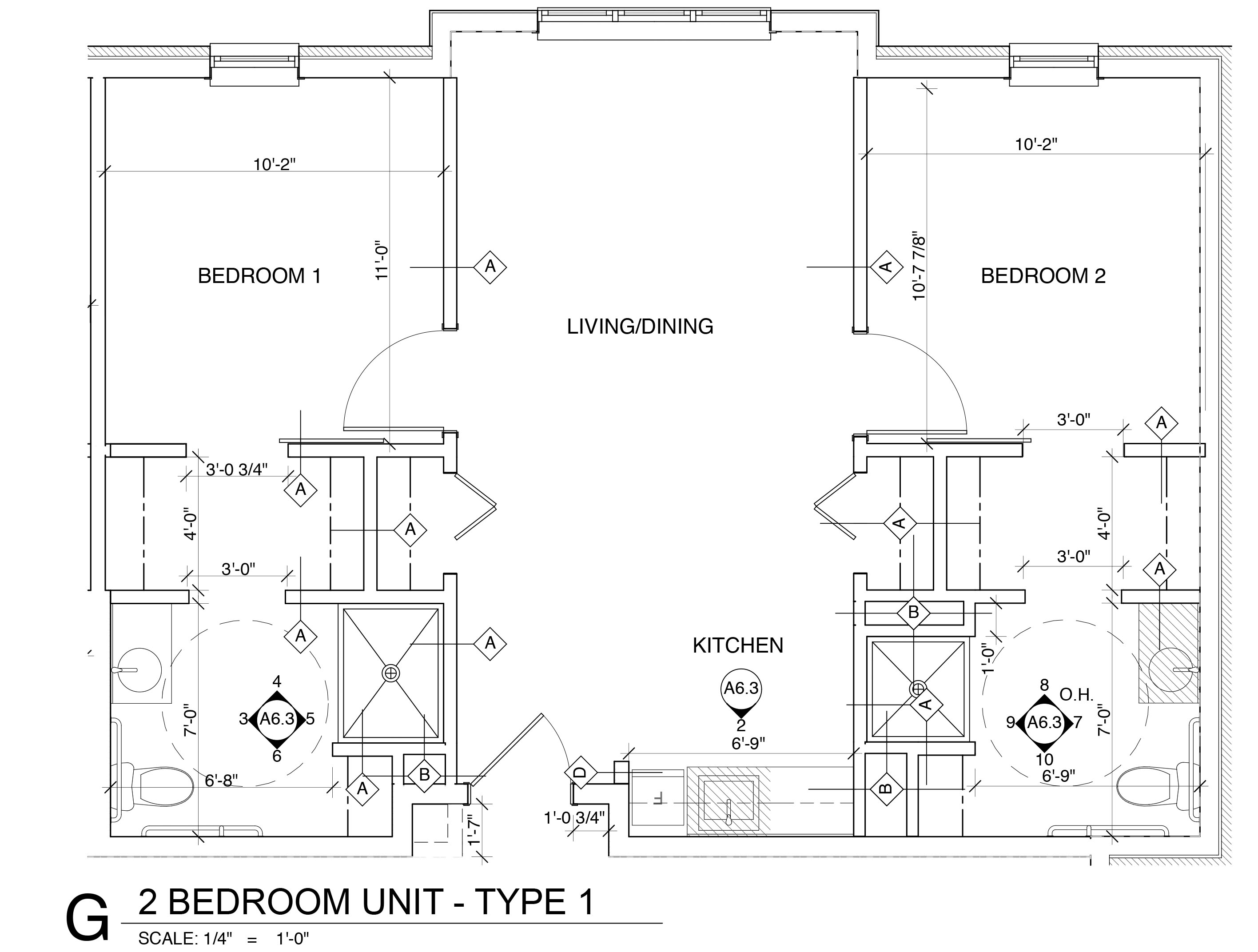 Two Bedroom Unit - Type One