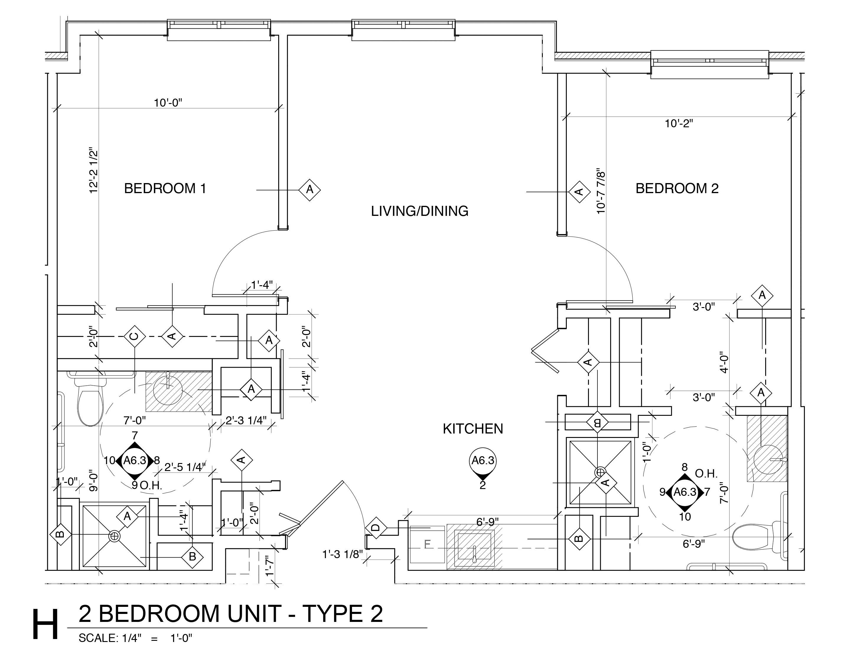 Two Bedroom Unit - Type Two