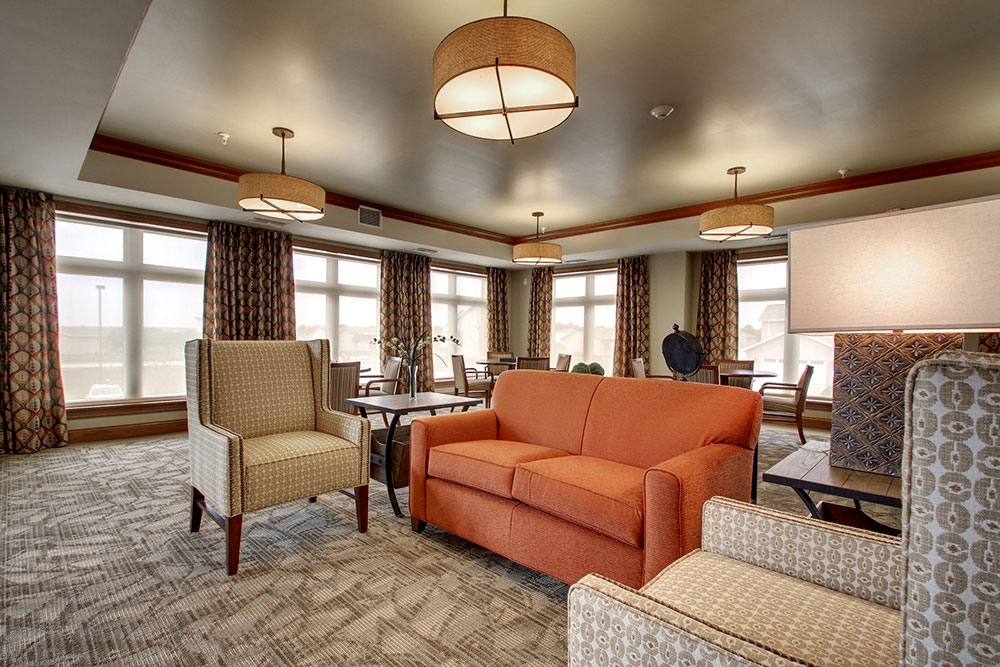 Sitting Area | Evergreen Senior Living - Chillicothe, Illinois