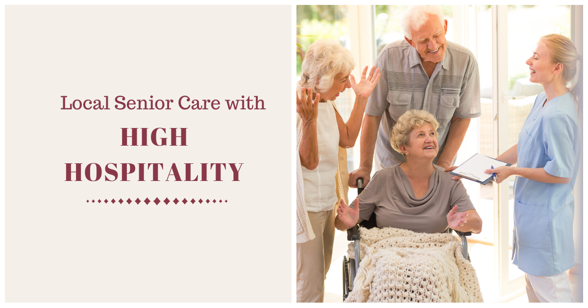 Local Senior Care with High Hospitality Blog Banner