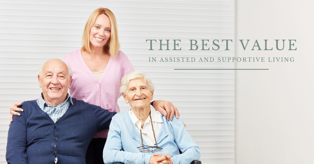 The Best Value in Assisted and Supportive Living Blog Banner