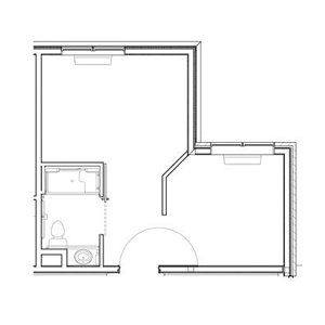 Indianapolis, Indiana | Semi-Private Short Term Rehab Floor Plan