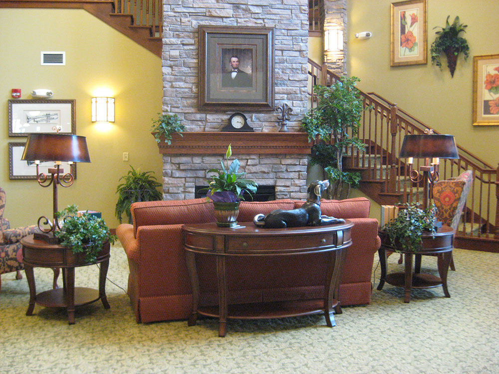 Fireplace Sitting Area | Castle Manor - Lincoln, Illinois