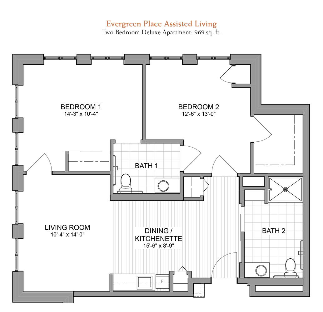 floor plans evergreen senior living in orland park il